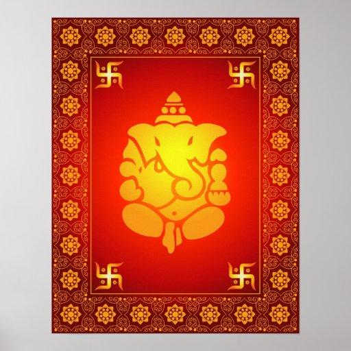 Senhor decorativo Ganesha Posteres