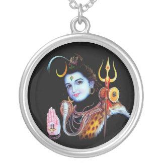 Senhor Shiva Colar Banhado A Prata