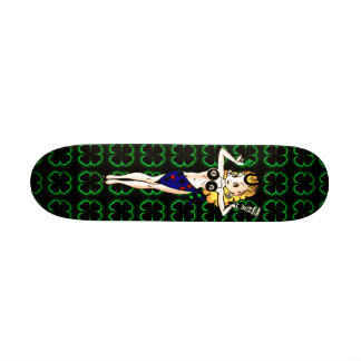 Senhora afortunada shape de skate 18,1cm