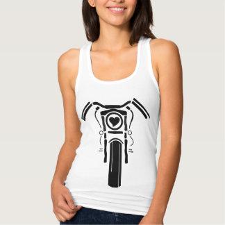 Senhora Anjo Coração Bicicleta Tanque Camisetas