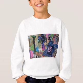 Senhora cor-de-rosa urbana camiseta