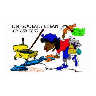 Senhora de limpeza cartão de visita