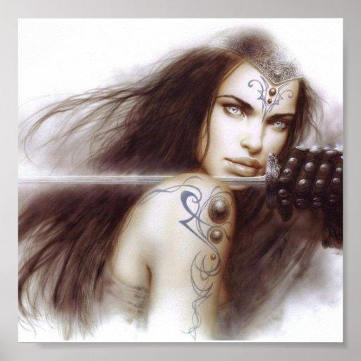 Senhora do guerreiro pôsteres