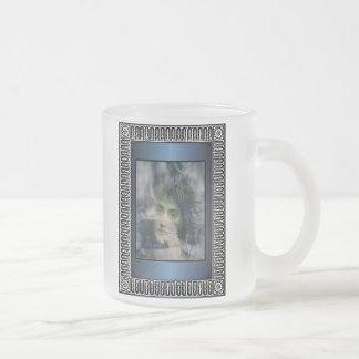 Senhora do inverno caneca de vidro fosco