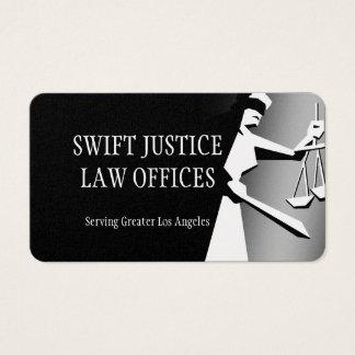 Senhora escura de Deco de justiça Cartão De Visitas