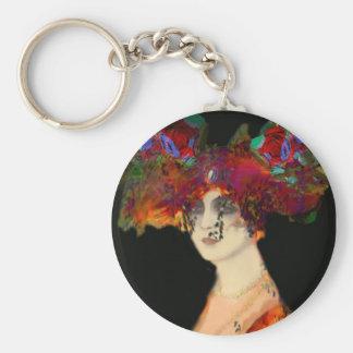 senhora florido da corrente chave chaveiro