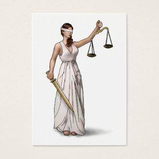 Senhora Justiça Ilustração Cartão De Visitas