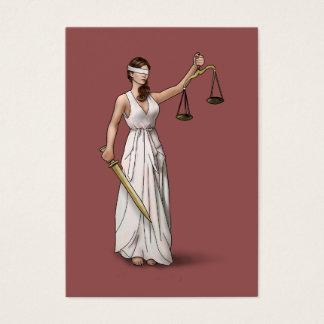 Senhora Justiça - Marsala Cartão De Visitas