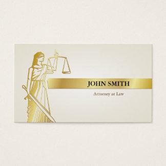 Senhora Justiça Profissional Advogado do ouro do Cartão De Visitas