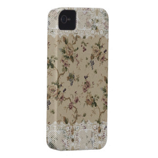 Senhora laçado floral Blackberry Corajoso Caso do Capa Para iPhone