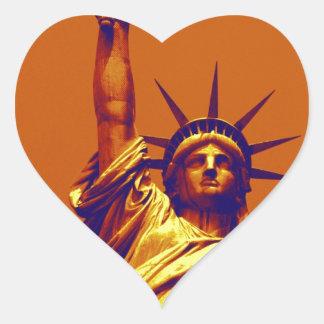 Senhora Liberdade do pop art Adesivo Coração