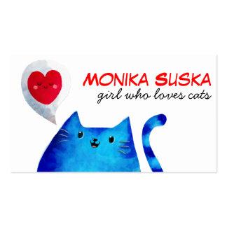 Senhora louca do gato cartão de visita