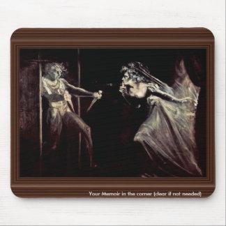 Senhora Macbeth Recepção Punhal, senhora Macbeth T Mouse Pad