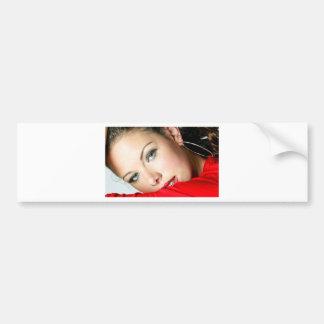 Senhora no vermelho adesivo para carro