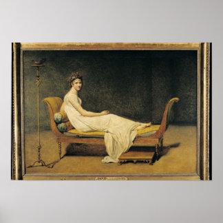 Senhora Recamier, 1800 Poster