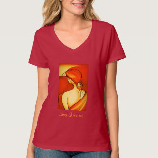 Senhora reflexiva Alaranjado Tshirt