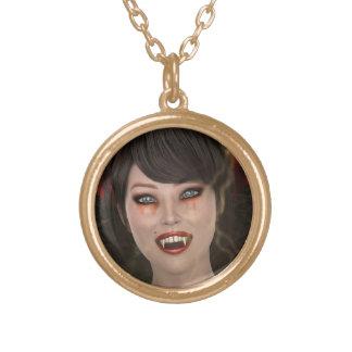 Senhora Vamp Colar Banhado A Ouro
