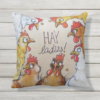 Senhoras do FENO - partido de galinha aqui Almofada Para Ambientes Externos