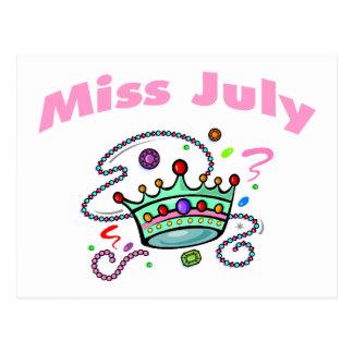 Senhorita julho (2) cartão postal