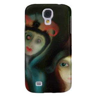 Senhorita Pequeno Peeking dentro em você Capas Samsung Galaxy S4