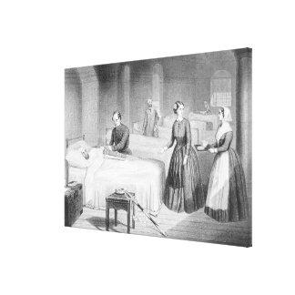 Senhorita Rouxinol no hospital em Scutari, engra Impressão Em Tela Canvas