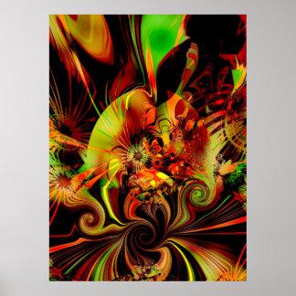 Sensação da arte abstracta de Digitas do poster os