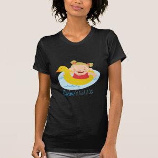 Sensação da natação camisetas