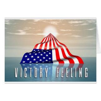 Sentimento da vitória cartão