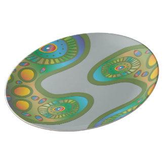 Separação celular pratos de porcelana