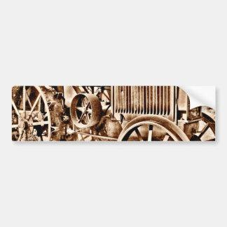 Sepia antigo do clássico do equipamento agrícola d adesivo para carro