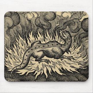 Sepia do dragão do fogo mouse pad