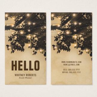 Sepia elegante do vintage rústico do país cartão de visitas