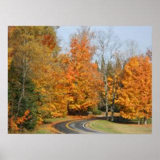 Sepultura histórica do outono de Adirondack da faz Poster
