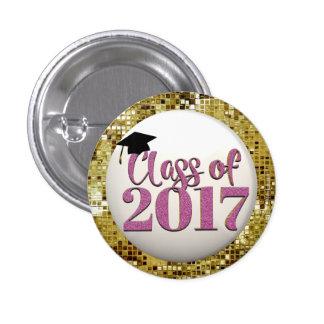 Sequins do ouro, classe cor-de-rosa do botão 2017 bóton redondo 2.54cm