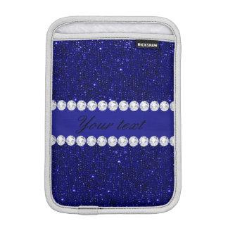 Sequins elegantes e diamantes do marinho luvas iPad mini