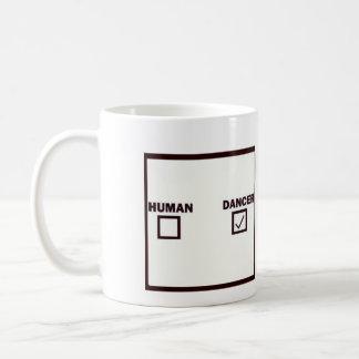 ser humano/dançarino caneca de café