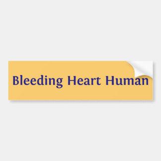 Ser humano do coração de sangramento adesivo para carro