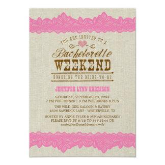 Serapilheira & convite cor-de-rosa do fim de convite 12.7 x 17.78cm