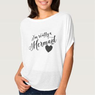 Sereia no coração t-shirts