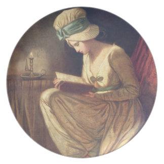 Serena (óleo em canvas) pratos
