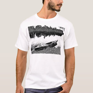Serenidade exterior - explorações do caiaque t-shirt
