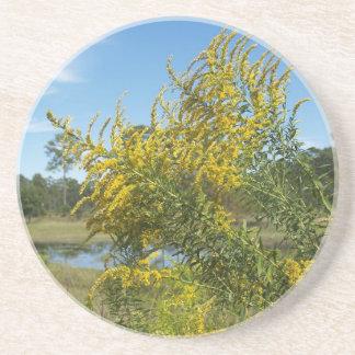 Série da planta/flor---Porta copos Goldenrod do Wi Porta Copos De Arenito