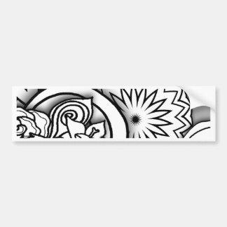 Série da profundidade do Doodle Adesivo Para Carro
