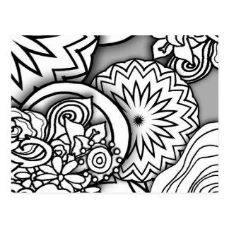 Série da profundidade do Doodle Cartão Postal