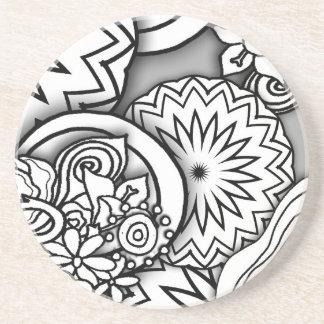 Série da profundidade do Doodle Porta Copos De Arenito