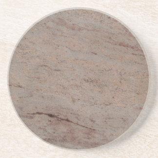 Série de mármore--Porta copos cinzenta de Tan--1 d Porta Copos De Arenito