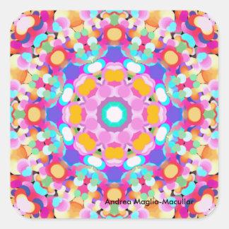 Série do design do caleidoscópio adesivo quadrado