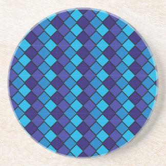 Série do diamante---Porta copos azul 1 de muitas c Porta Copos De Arenito
