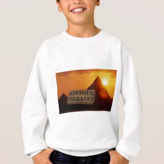 Série do nascer do sol da pirâmide de AfriMex T-shirts