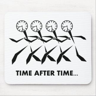 Série dos idioma do tempo - por muitas vezes mouse pad